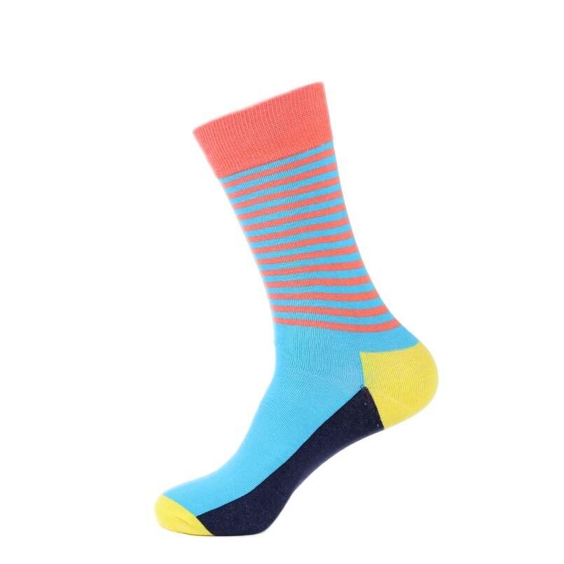 Colorful Winter Men Crew Cotton Happy Socks British Style Dot Striped Harajuku Brand Novelty Art Funny Dress Socks