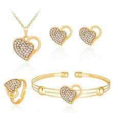 3Set/Lot  alloy crystal necklace earrings ring&bracelet jewellery set