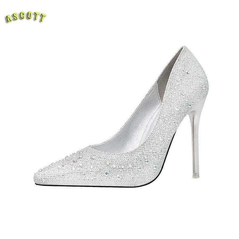Sweet And Delicate And Elegant Fashion font b Shoes b font Pointed Shallow Mouth Diamond Wedding