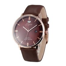 Jijia Informal Vogue Type Extremely Slim Males Watch Japan Quartz And Leather-based Strap Date Operate Wristwatch SG1279 brown