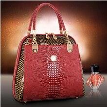 High Quality Luxury Handbags Women Bags Designer Genuine leather Shell bag Snakeskin pattern European American fashion godar
