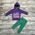 Crianças roupas de Outono meninas do bebê moletom com capuz roupas meninas sereia crianças outfits roupas de lojas de roupas moletom com capuz roxo