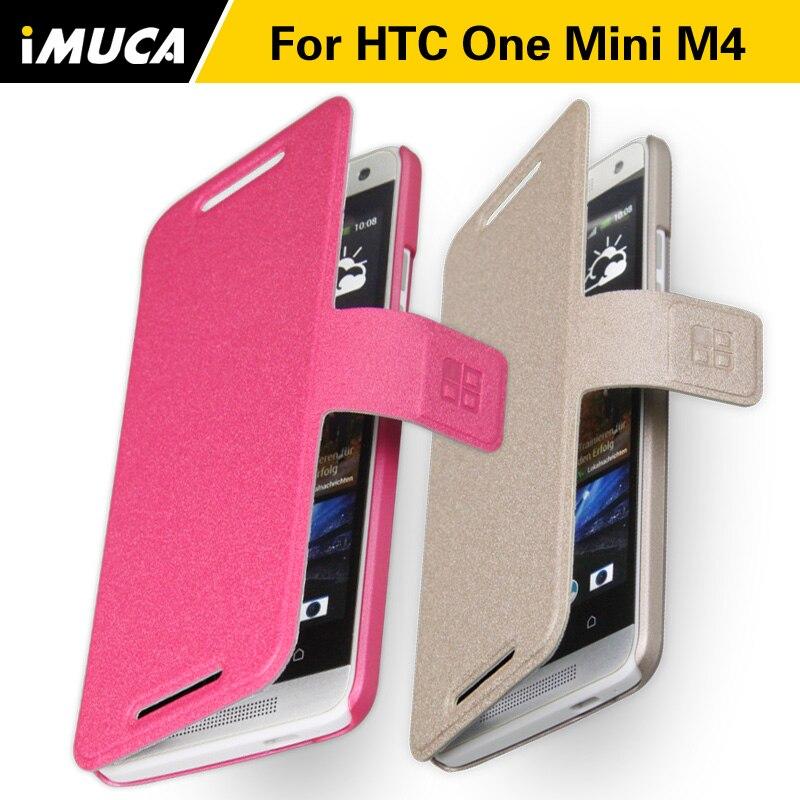 Para htc one mini m4 m7 mini 601e cubierta del caso para htc one mini m4 flip ca