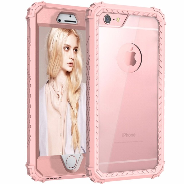 the latest 67d84 7b706 US $6.5 40% OFF|Clear Hard Back Cover For iPhone 7 7 Plus,Strong Guard  Protection Series Case for Apple iPhone 6 7 Plus Sturdy Phone Cases Cute-in  ...