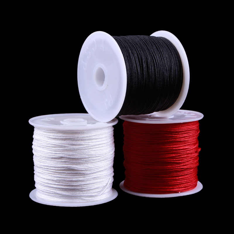 Cheap Hot Sale 15 Colors Nylon Cord Thread Chinese Knot Macrame Rattail 0.8mm*45M  Rope For DIY Bracelet Braided#40932