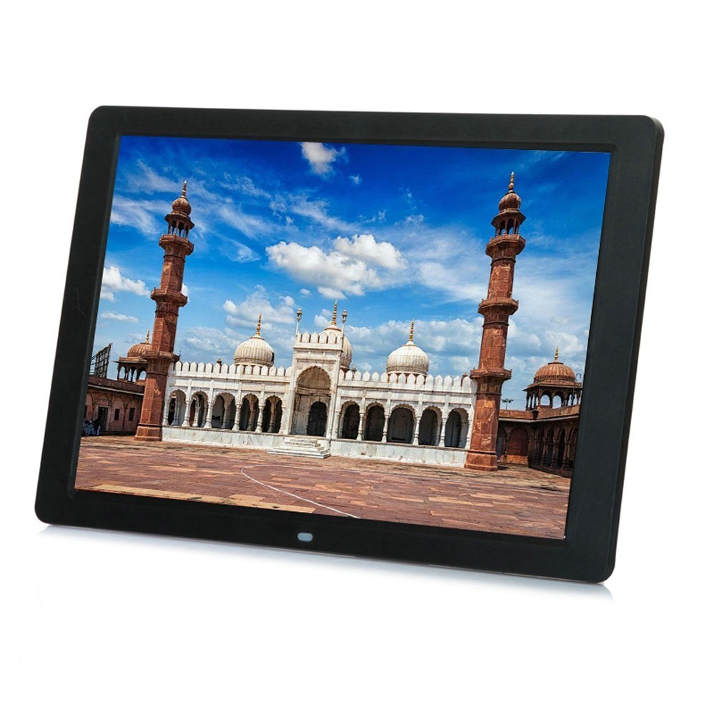 Nueva 12 pulgadas marco de fotos Digital HD 1280x800 LED de luz electrónica Álbum Música vídeo buen regalo