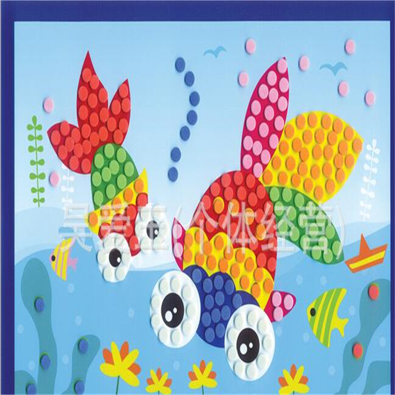 10pcs/lot 3D eva foam dot sticker mosaik cartoon character toy sticker Kid DIY game self-adhesive craft learning education