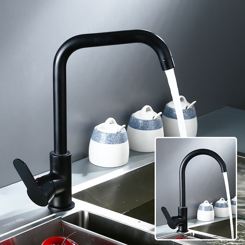 Kitchen Faucets  Brass Kitchen Sink Mixer Taps Hot And Cold 360 Degree Rotation Water Taps Torneira Cozinha Sink Mixer