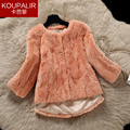 New arrival natural rex rabbit fur coats women short slim O neck real fur coat outerwear 2017 autumn and winter free shipping