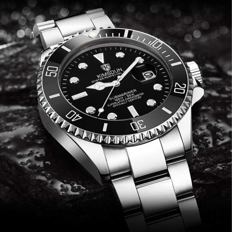 Mens Watches Top Luxury Brand KIMSDUN 2019 Men Full Steel Watches Quartz Watch Analog Waterproof Sports Army Military WristWatch