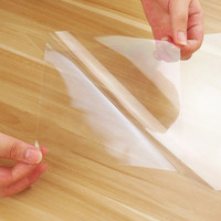 Transparent Table Sticker Gloss Tablecloth 2mil Home Furniture Protection Vinyl 60cm x 200cm