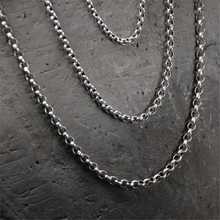 Solid 925 Sterling Silver O Shape Chain Necklace 45/50/55/60/65/70/75/80cm for Women Jewelry Chains Necklaces For DIY