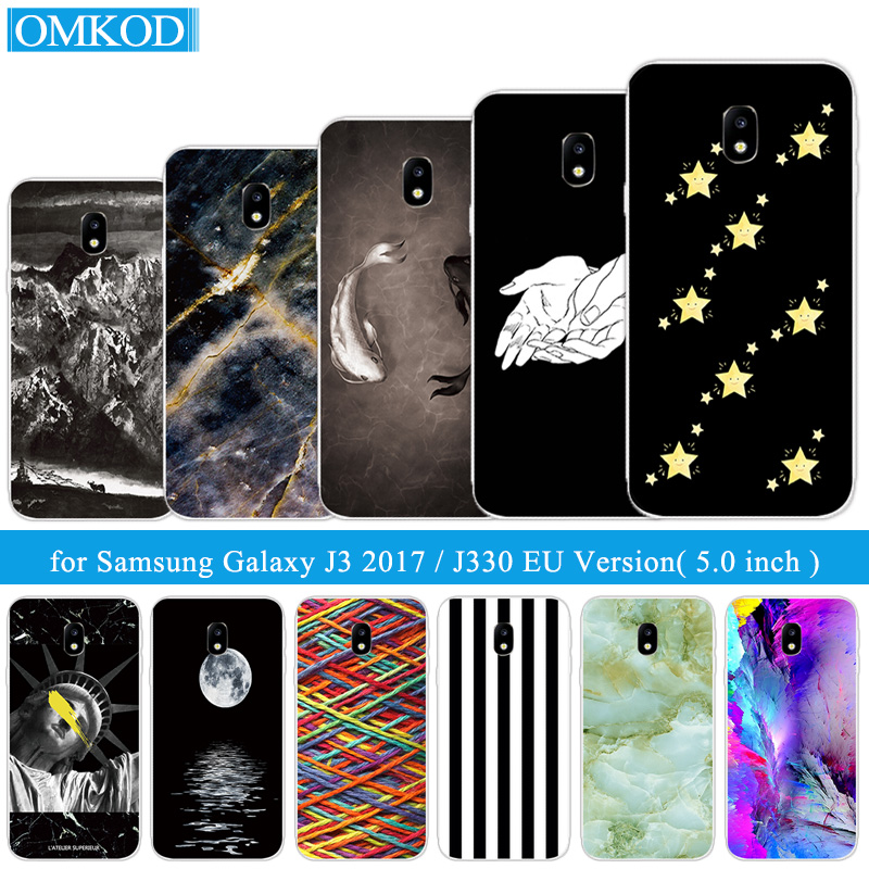 For Samsung Galaxy J3 2017 J330F EU Version Cover Shell For Samsung J3 2017 J330 Phone Cases Silicone TPU Funda Fish Coque