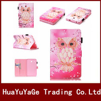3D Painting Butterfly Pattern Flip Book Stand With Card Holder Leather Case For Samsung Galaxy Tab
