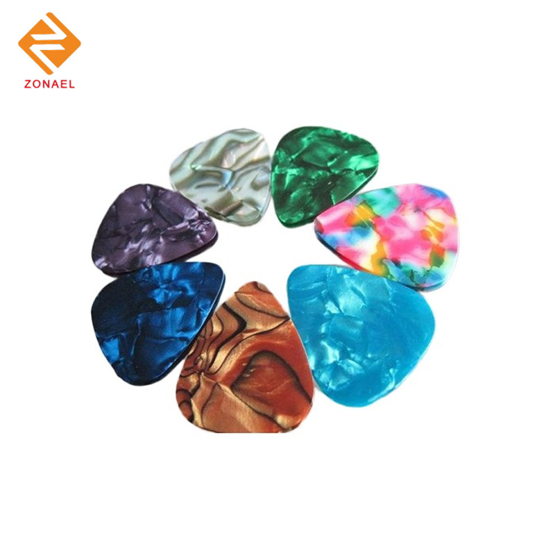 50 pieces 0.46 mm-0.96mm Celluloid Guitar Pick Mediator for Acoustic Electric Guitarra