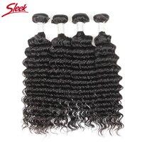 Sleek Malaysian Deep Wave Hair Weave 100 Remy Human Hair Bundles Extension 10 30 Inch 1