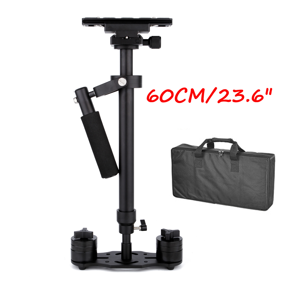 60cm/23.6'' Steadycam S60 Steadicam load 3.5kg Handheld Stabilizer + Bag for Camcorder Camera DSLR Canon Nikon Gopro Video DV