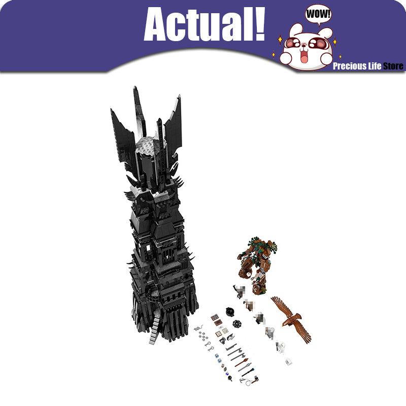 LEPIN 16010 The Lord of the Rings Two Tower of Orthanc GANDALF THE GREY Hobbits 2430Pcs Building Blocks Bricks Compatible 10237 single sale medieval castle knights dragon knights the hobbits lord of the rings figures with armor building blocks brick toys