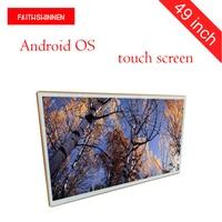 49 inch wall mount Android Full HD LCD advertising display/video digital signage led digital display lcd digital signage