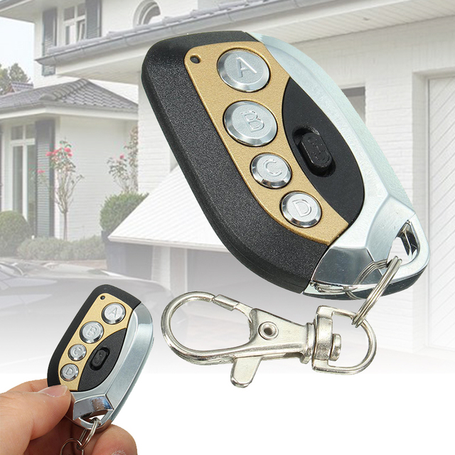 Universal 4 Button Remote Control Cloning 433mhz Electric Garage