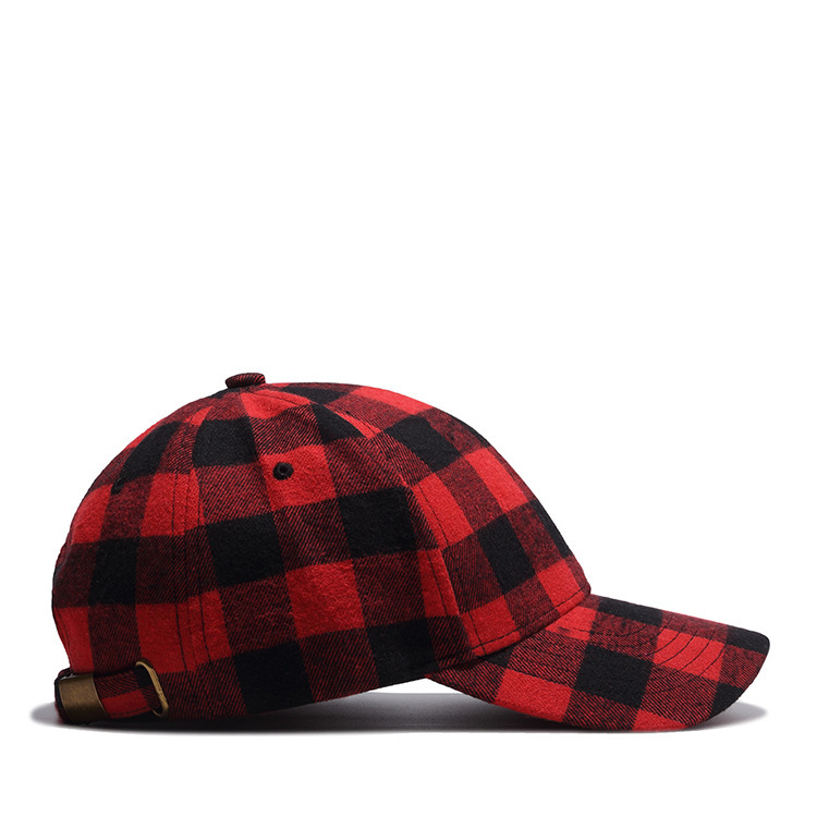 Black Red Plaid Baseball Cap Hiphop Punk Rock Curved Sun Hat Men Women  Casual Peaked Caps-in Baseball Caps from Apparel Accessories on  Aliexpress.com ... 5787e3ecf01