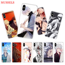 Gintama Japan Anime Back Cover Phone Case For iPhone 11 Pro XR XS MAX 7 8 6 6S Plus X 10 Ten 5 5S SE Soft Shell Coque