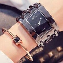 Relógio analógico para mulheres, relógio de 2018 de marca de luxo pulseira de aço inoxidável relógio de quartzo para mulheres relógio de pulso