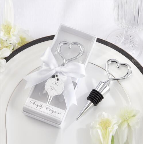 100 pcs Bottle Stopper Wedding Souvenirs Model Number: Heart bottle Stopper