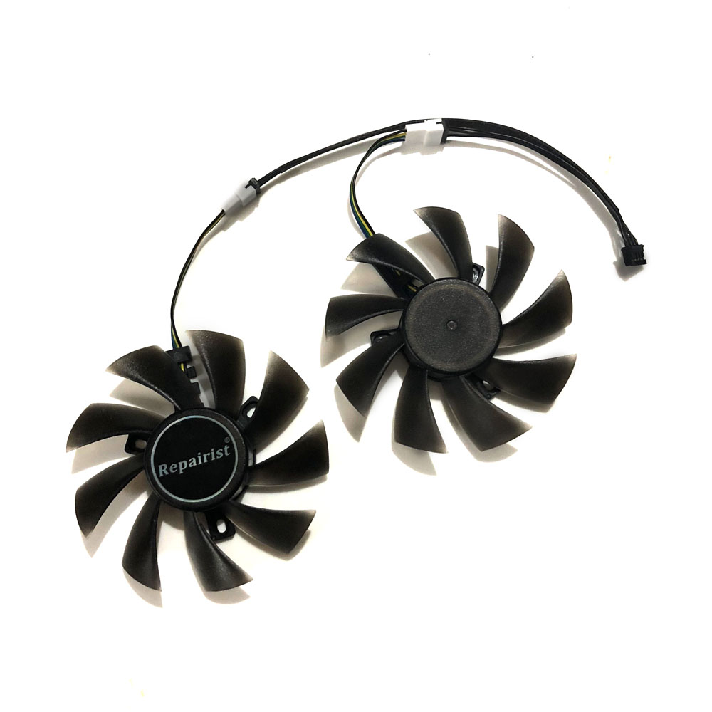 2pcs/lot 4pin 85mm cooler Graphics card fan for REDEON RX 570 GIGABYTE rx570 gaming 4 GB video card GPU cooling