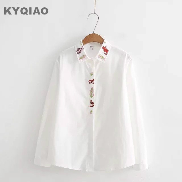 Superb KYQIAO Sweet Lolita Shirt 2018 Mori Girls Spring Autumn Japan Style Fresh  Cute Long Sleeve White Idea