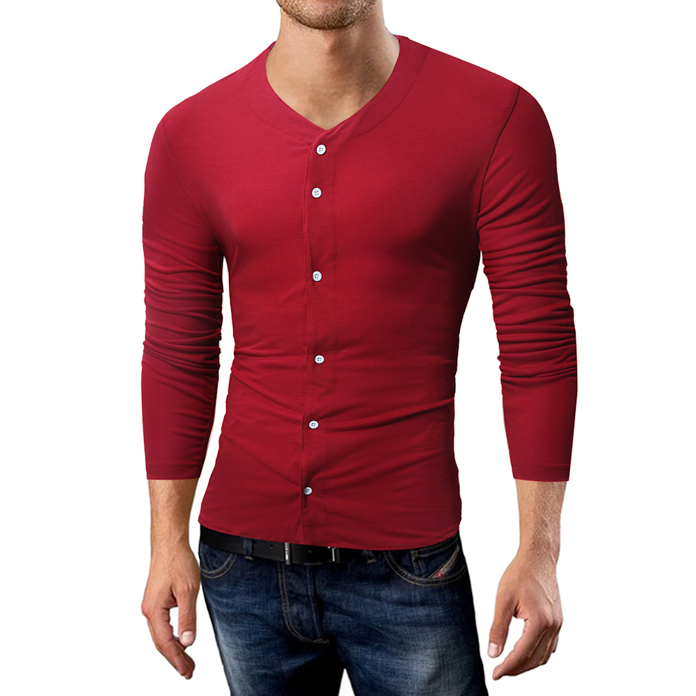 Phertiful Hot Sale 2017 New Fashion Brand Irregular Slim Fit Long Sleeve Tshirt Men Trend Causal With Zipper Man T-shirt Cotton