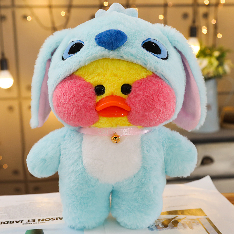 1PC 30cm Cute LaLafanfan Cafe Duck Plush Toy Cartoon Kawaii Duck Stuffed Doll Soft Animal Dolls Kids Toys Birthday Gift For Girl