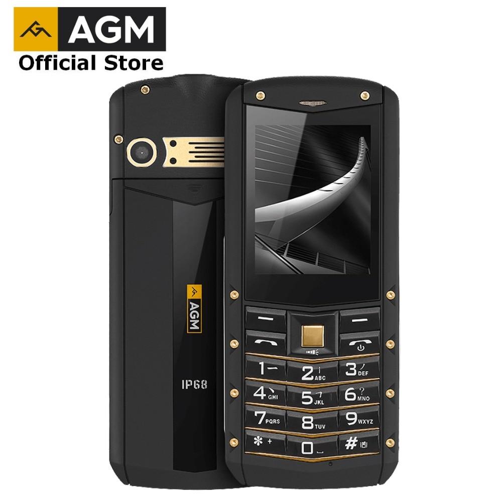 (Support RU Language)AGM M2 2.4 Feature Phone Dual SIM Rear 0.3MP Outdoor Phone IP68 Waterproof Shockproof Flashlight 1970mAh