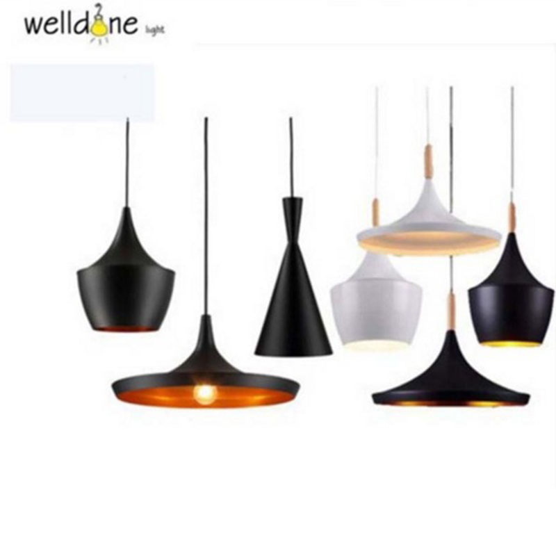British Design Black White Copper shade Beat Tall fat wide pendant lamp light E27 for Restaurant Living Room Bedroom Hotel Decor manitobah унты tall grain mukluk женск 11 black черный