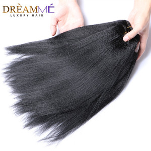 Image 2 - Dreamme שיער 3 חבילות ברזילאי מסולסל אור יקי ישר שיער טבעי הארכת 100% רמי שיער Weave חבילות צבע טבעי
