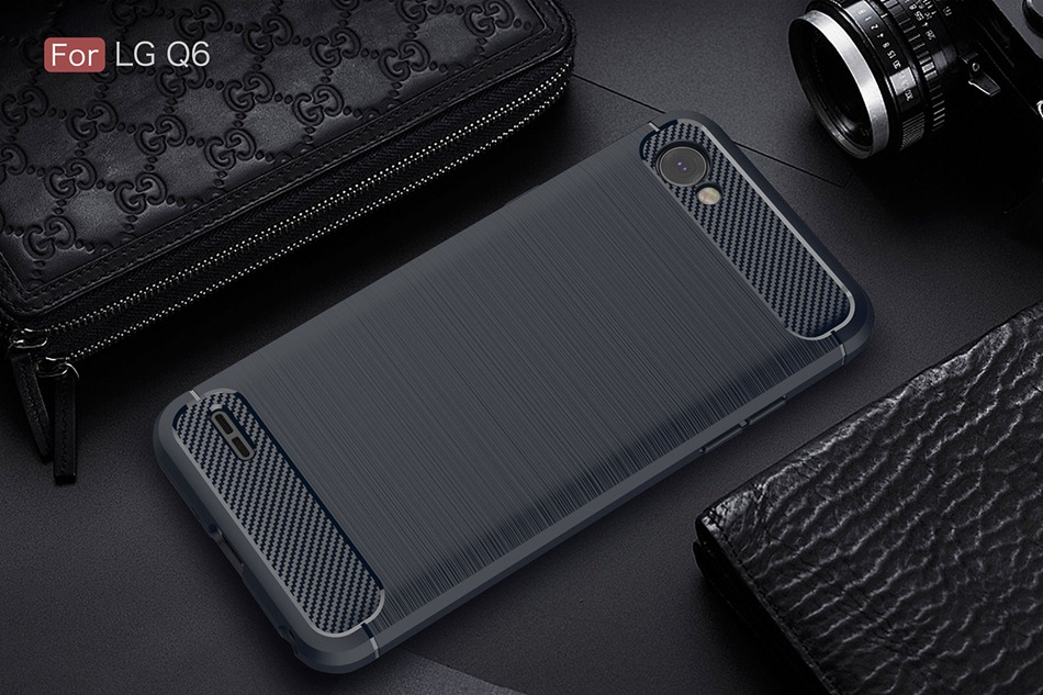, Luxury Carbon Fiber Case For LG Q6 Case Fashion Ultra Slim Soft Silicone Gel Protect Cover For LG Q6 Plus Alpha X600 Phone Cases
