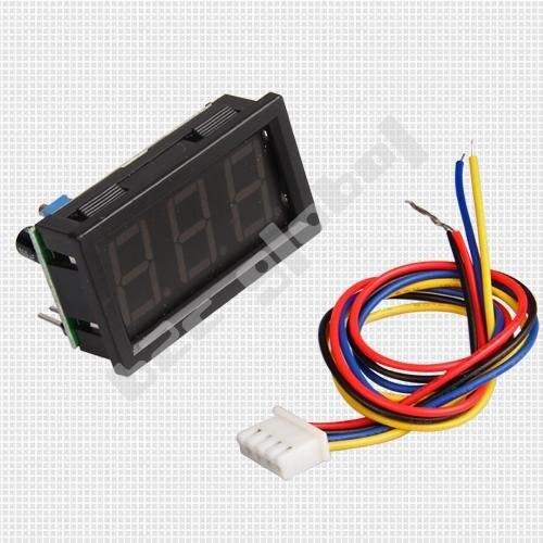 Красный светодиодный цифровой Напряжение вольтметр Панель DC 99.9 В