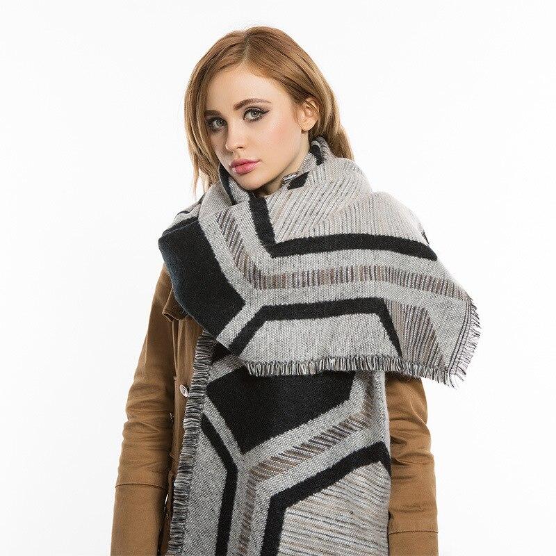 Long Cashmere Scarf Infinity Winter Viscose Geometry Ethnic Scarf Bufandas Brand Scarves Capes Shawls Wraps Shawl