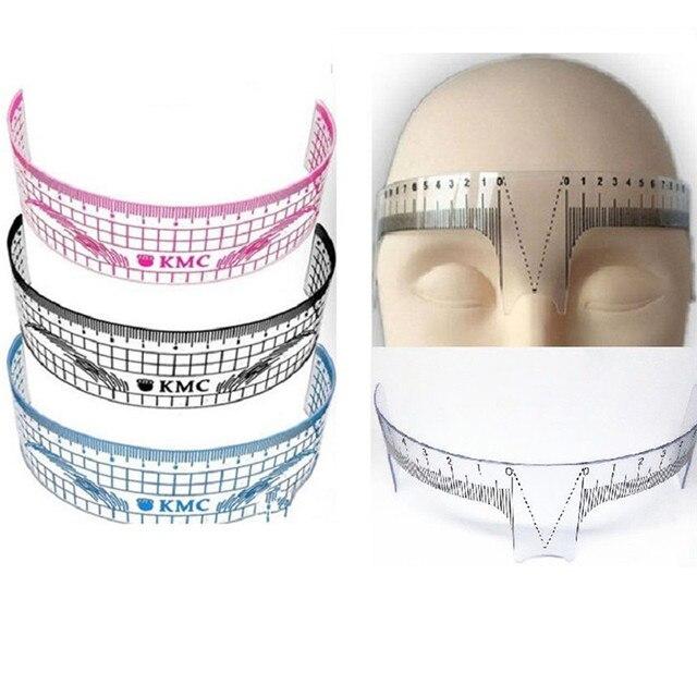 1PCS Makeup Reusable Eyebrow Grooming Stencil Shaper Ruler Measure Tool Eyebrow Ruler Tool Measures 2