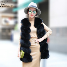 Fashion faux fur vest coat Women Casual street wear Fox Fur Jacket Waistcoat 2019 Plus size 3XL Sleeveless teddy coat feamle
