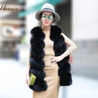 Fashion faux fur vest coat Women Casual street wear Fox Fur Jacket Waistcoat 2019 Plus size 3XL Sleeveless teddy coat feamle