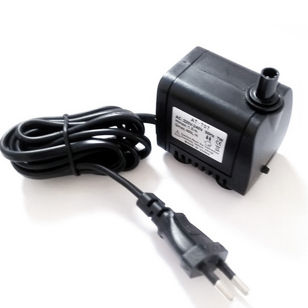 Hoopet 7w 50hz 220v 240v electric submersible water pump for Fish tank vs pond