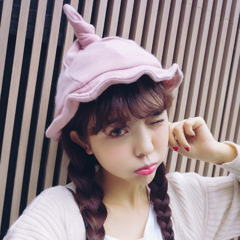 Fisherman Hat Witch Woman Caps Ladies Female Korean Version Of Cute Wool Warm Autumn And Winter ST
