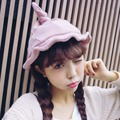 Sombrero de pescador Sombrero de Bruja Mujer Gorras Sombrero de Las Señoras Versión Coreana De Lana Lindo Sombrero Femenino Cálido Otoño E Invierno ST