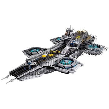 07043 Super Heroes The Shield Helicarrier Model Building Blocks Brick Educational toys for Kids gifts Compatible With Toys 76042