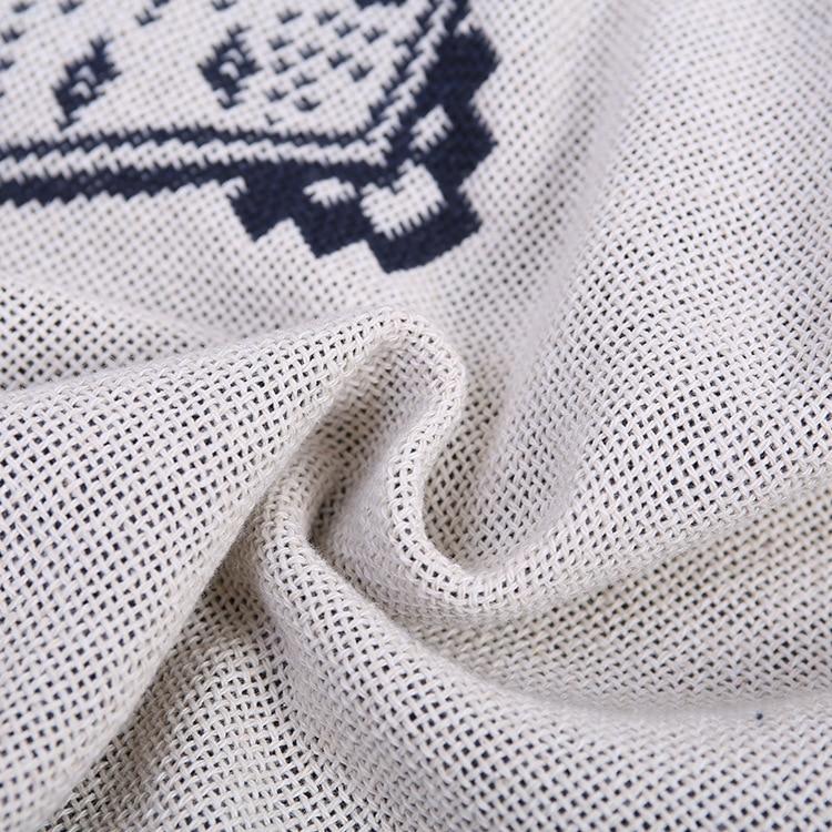 Tessuti per la casa di qualità commercio estero in puro cotone coperta, diamante bianco e nero divano asciugamano Ispessimento aria condizionata coperta - 5