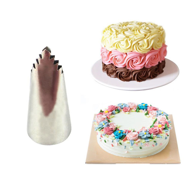 95 Leaves Pastry Tip Stainless Steel Icing Cupcake Decorating Tips ...