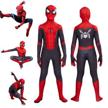 DM Halloween Children Spider-Man Away from Home Peter Parker Cosplay Costume Zentai Superhero Leotard Suit Jumpsuit