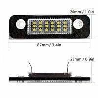 2Pcs 12V 18 LED SMD White Error Free License Plate Light Number Plate Lamps Light For