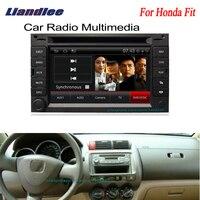 Liandlee 2 din Car Android Radio For Honda Fit 2001~2008 GPS Navi Nav Maps CD DVD player Audio TV HD screen Media OBD2
